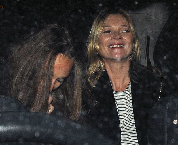 Kate Moss and Chloe Green out together in London, 24 February 2014