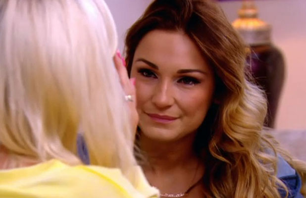 Sam Faiers talks about her Crohn's Disease on TOWIE, series eleven, episode one, 23 February 2014