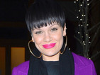 Jessie J pairs new choppy fringe with hot pink lipstick in New York