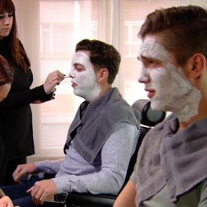 TOWIE: Lewis Bloor and James 'Diags' Bennewith get facials. Episode aired: (5 March 2014).