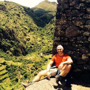Kirk Norcross continues on his charity trek in Macchu Picchu in Peru (6 March 2014).