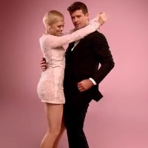 Jessie J and Robin Thicke star in DJ Cassidy's 'Calling All Hearts' music video (4 March 2014).