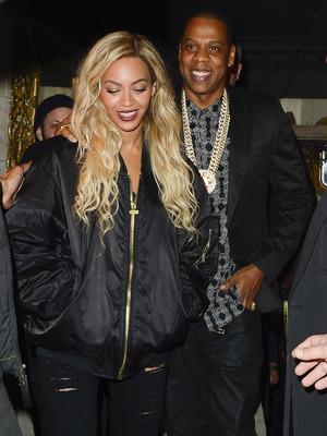 Beyonce and Jay Z leaving Mason House (Movida) at 3:15 am - London - 1.3.2014