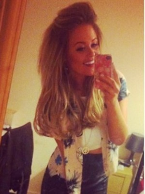 Emily Atack shares a picture of her night in Liverpool