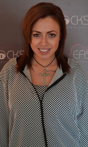 Geordie Shore's Holly Hagan shows off natural hair before getting Easilocks extensions - 1 March 2014
