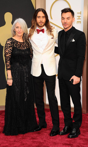 Constance Leto (Mother), Jared Leto and Shannon Leto (Brother), 86th Annual Academy Awards Oscars, Arrivals, Los Angeles, America - 02 Mar 2014