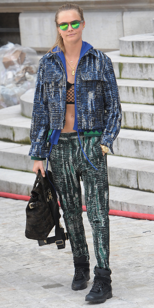 Cara Delevingne outside the Stella McCartney show at Paris Fashion Week - 3 March 2014