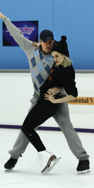 Ashley Roberts and Robin Cousins practice for the Dancing On Ice final and last ever episode on 9 March 2014