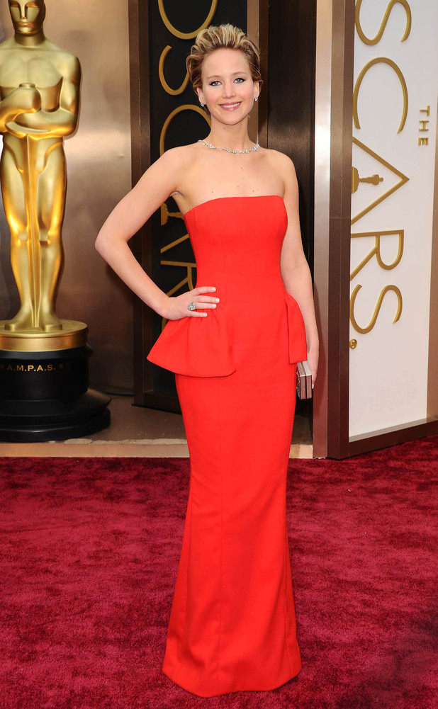 Jennifer Lawrence, 86th Annual Academy Awards Oscars, Arrivals, Los Angeles, America - 02 Mar 2014