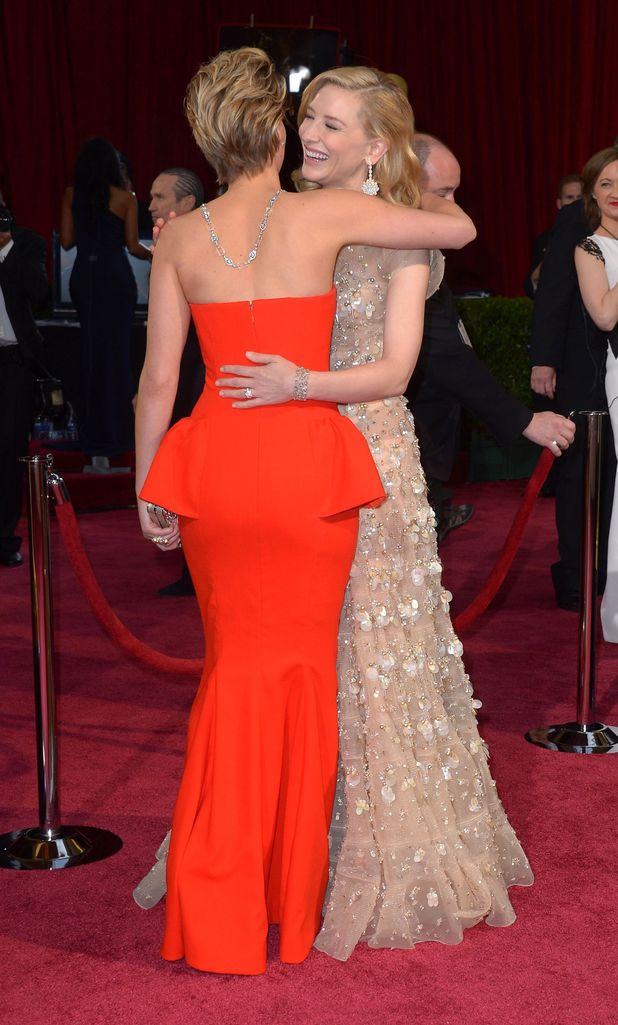 Jennifer Lawrence and Cate Blanchett, 86th Annual Academy Awards Oscars, Arrivals, Los Angeles, America - 02 Mar 2014