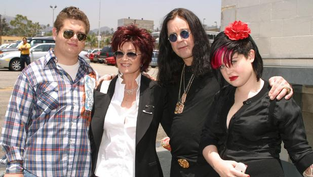 The Osbournes - Kelly, Jack, Sharon and Ozzy at open auditions for Ozzfest 2004 held at the Palladium Hollywood, California - 11.06.04.