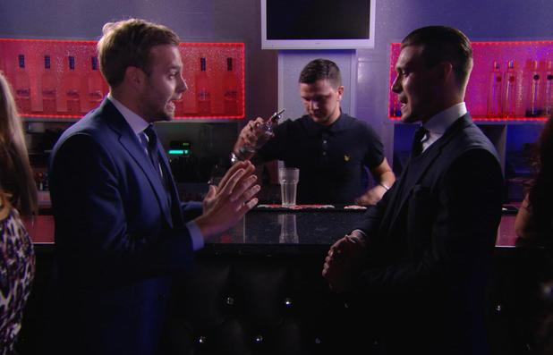 TOWIE: Frank Major and Charlie Sims comes face to face. Episode aired: (5 March 2014).