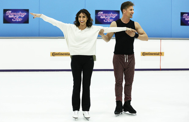 Christine Bleakley and Matt Evers practice for the Dancing On Ice final and last ever episode on 9 March 2014
