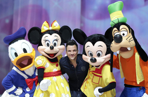 Peter Andre arrives for a Disney On Ice photocall - Leeds - 6 March 2014