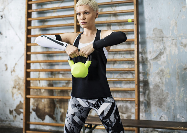 Jessie J poses for new Nike + Training Club app campaign - 6 March 2014