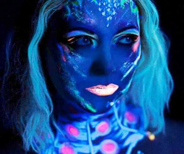 Charlotte Church shows off neon face paint at her London EP showcase - 6 March 2014