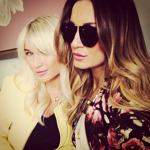 TOWIE sister Sam and Billie Faiers pose in photo posted to Instagram (6 March 2014).