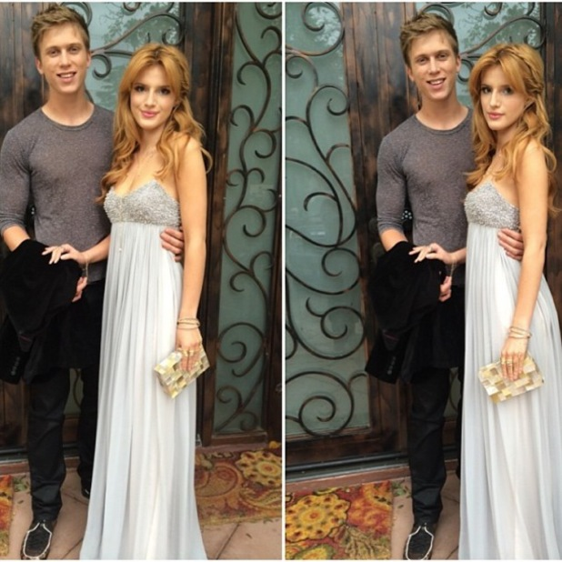 Bella Thorne and boyfriend Tristan Klier before the InStyle Oscars Viewing Party - 2 March 2014