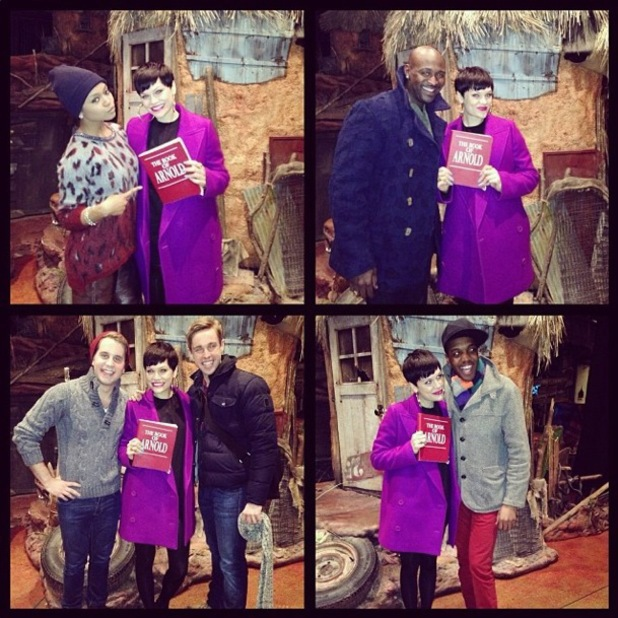Jessie J meets the cast of The Book of Mormon in New York, America - 5 March 2014