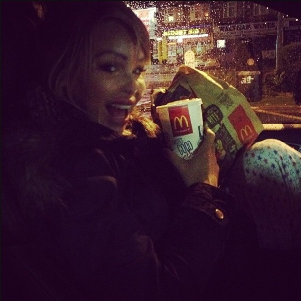 Pregnant Katie Piper dashes to McDonald's - 2 March 2014