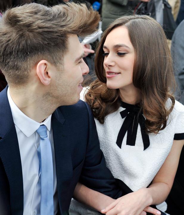 Chanel Show, Autumn Winter 2014, Paris Fashion Week, France - 04 Mar 2014 James Righton, Keira Knightley