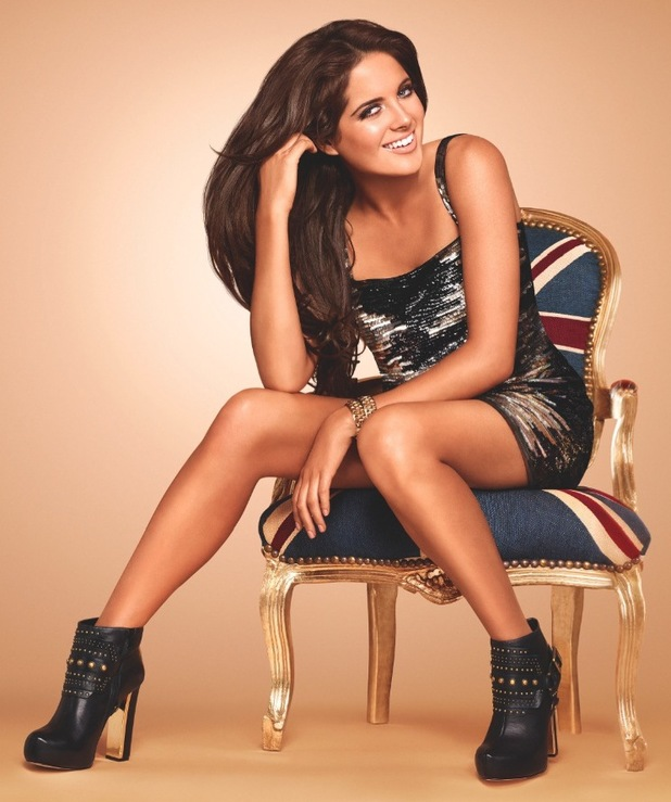 Made In Chelsea's Binky Felstead poses as the face of the new Rimmel Sunshimmer campaign - March 2014