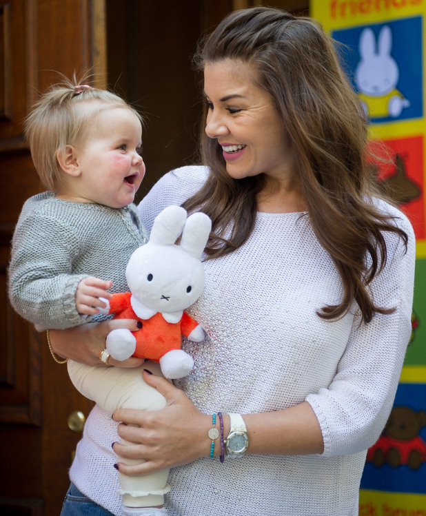 Imogen Thomas' daughter Ariana at Miffy book launch, 28 Feb 2014 2014