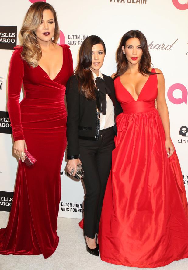 Kim Kardashian, Khloe Kardashian, Kourtney Kardashian: Elton John Aids Foundation presents 22nd Annual Academy Awards viewing party - Arrivals - 2 March 2014