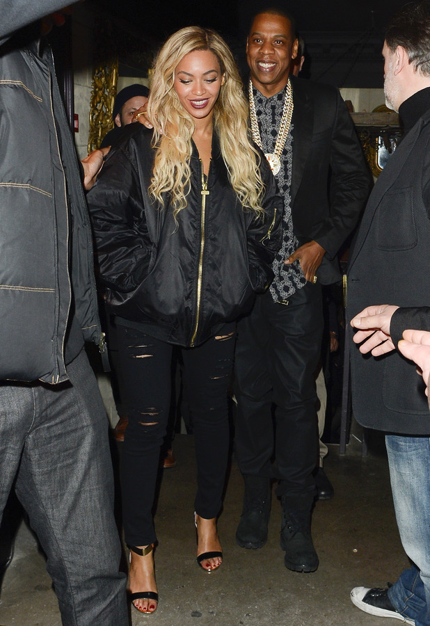 Beyonce and Jay Z leaving Mason House (Movida) at 3:15 am - London - 1.3.2014