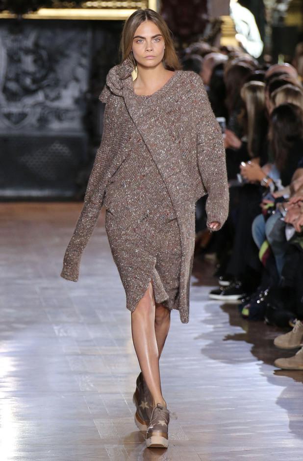 Cara Delevingne at the Stella McCartney autumn/winter '14 show at Paris Fashion Week - 3 March 2014