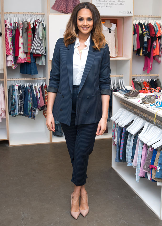 Alesha Dixon opens the Marks & Spencer Kids' Shwop Boutique at M&S Marble Arch, 6 March 2014