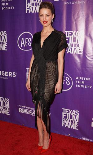 Johnny Depp, Amber Heard at 2014 Texas Film Hall of Fame Awards held at Austin Studios - Arrivals, 6 March 2014