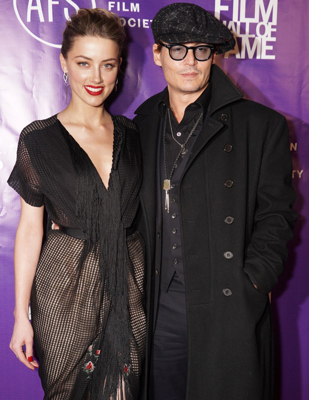 Johnny Depp, Amber Heard at 2014 Texas Film Hall of Fame Awards held at Austin Studios - Arrivals, 6 March 2014