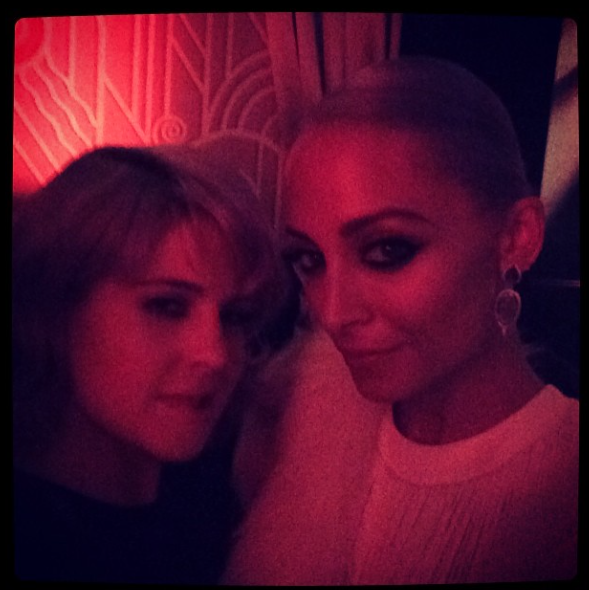 Kelly Osbourne and Nicole Richie at an Oscars party, 2 March 2014