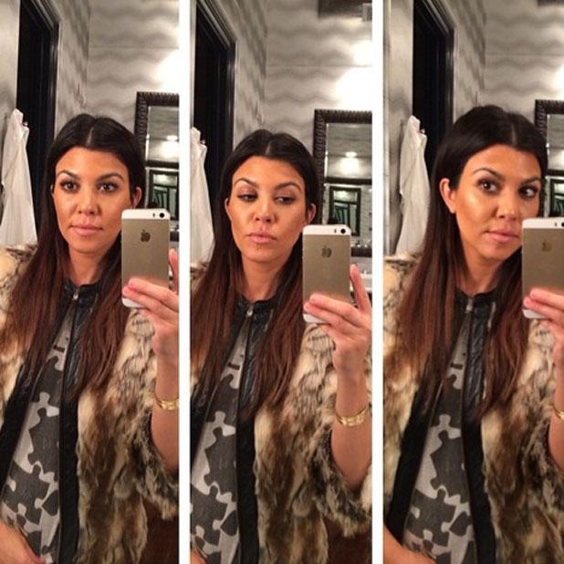 Kourtney Kardashian enjoys a 'selfie party' via Instagram on 5 March 2014