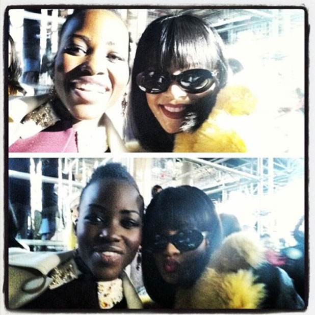 Rihanna and Lupita Nyong'o at Miu Miu show, Autumn Winter 2014, Paris Fashion Week, France - 05 Mar 2014