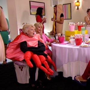 TOWIE: Bobby Norris and Gemma Collins talks to Nanny Pat and Carol Wright at Arg's party Aired: 13 March 2014.