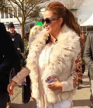 Katie Price, Cheltenham Festival day 1 arrivals, 11 March 2014