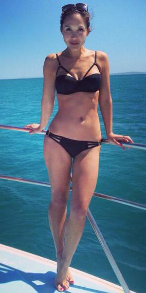 Myleene Klass shows off her amazing bikini body on holiday in South Africa, 14 March 2014