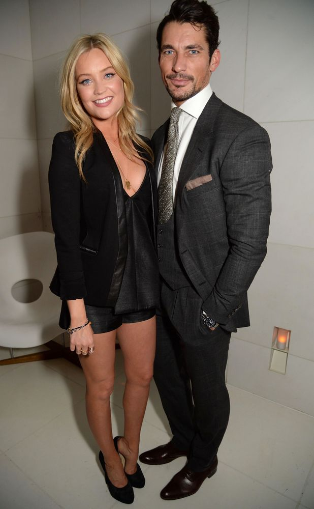 Laura Whitmore and David Gandy attend the Rodial Beautiful Awards in London, Britain - 10 March 2014