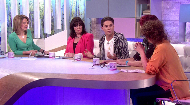 Joey Essex appears on 'Loose Women' to promote his new ITV2 show 'Educating Joey Essex'.