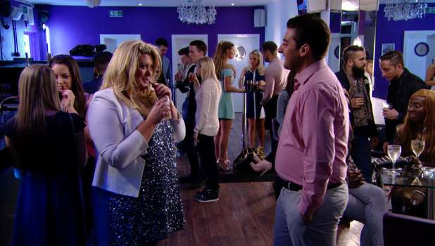 Gemma Collins flirts with Arg in TOWIE, Sunday 16 March 2014