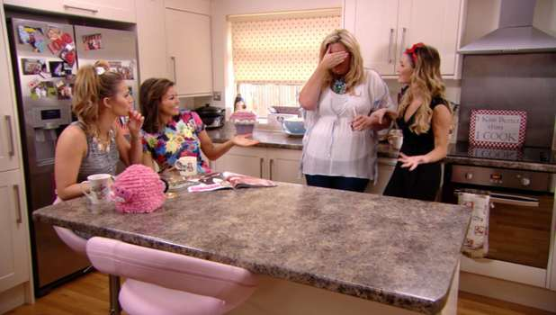 Gemma Collins tells her girl friends about her secret with Arg in TOWIE, Sunday 16 March 2014