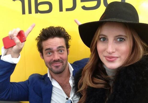 Made In Chelsea's Spencer Matthews and Rosie Fortescue attend the Cheltenham Festvial (12 March).