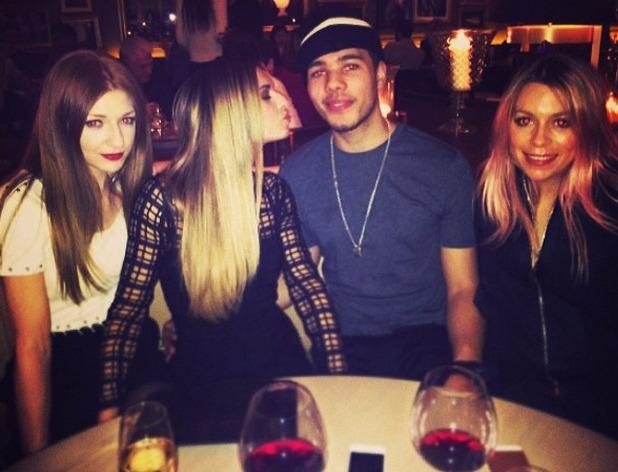 Nicola Roberts posts a photo of Cheryl Cole giving Joel Compass a kiss