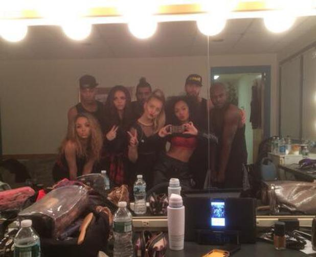 Little Mix backstage in Connecticut, US - 9 March 2014
