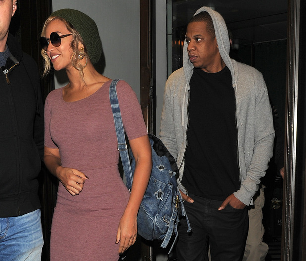 Beyonce and Jay Z seen leaving Cecconi's restaurant in Mayfair. London. UK - 7.3.2014