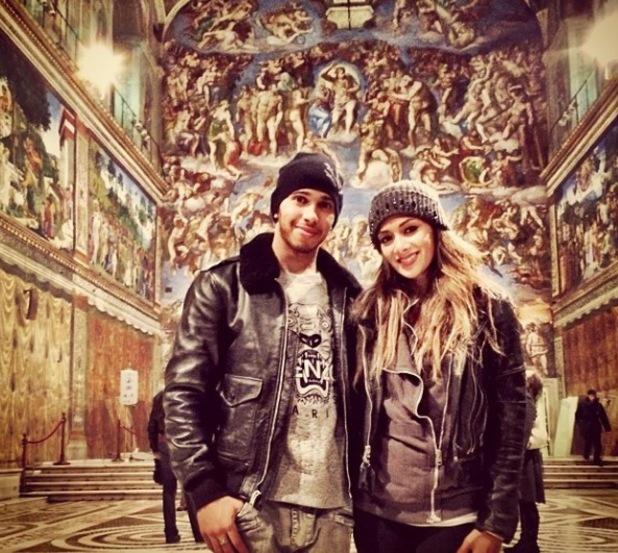 Nicole Scherzinger and Lewis Hamilton at the Sistine Chapel - 2014