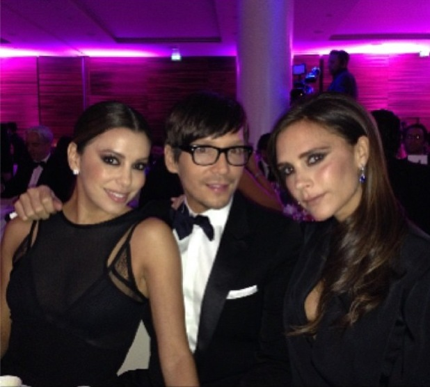 Eva Longoria, Victoria Beckham and Ken Paves at the Global Gift Gala in London, England - 19 November 2013