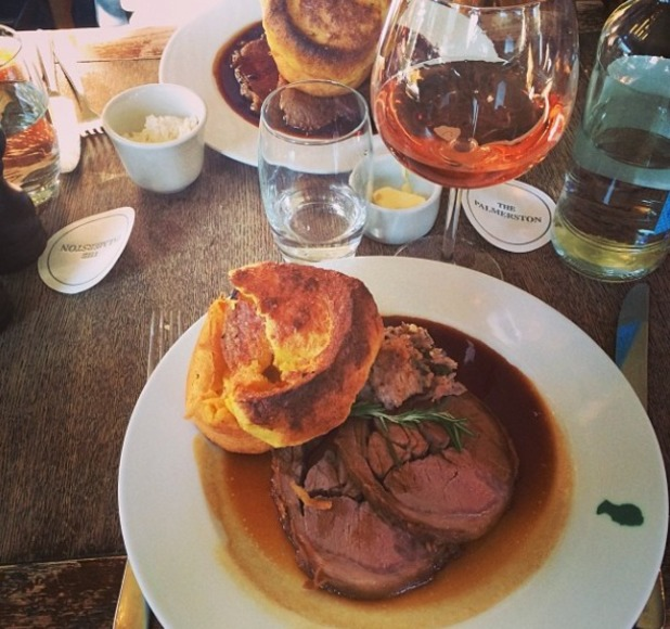 Millie Mackintosh goes for Sunday roast - March 9